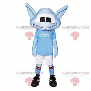 Blå fremmed maskot med sportsklær - Redbrokoly.com