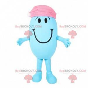 Maskottchenblauer Charakter von Mr. Madam - Redbrokoly.com