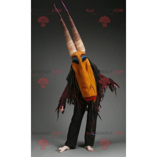 Witch mascot with horns - Redbrokoly.com