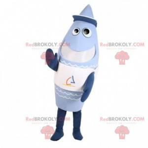Riesiges und lustiges Maskottchen des blauen Haifischs -