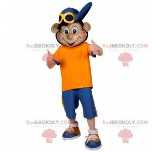 Nastolatek chłopiec maskotka z czapką - Redbrokoly.com