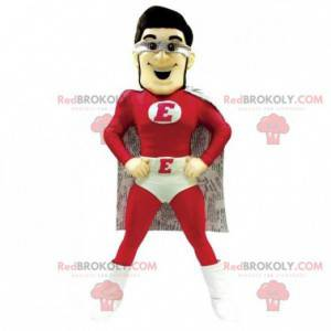 Superhero mascot dressed in red and white - Redbrokoly.com