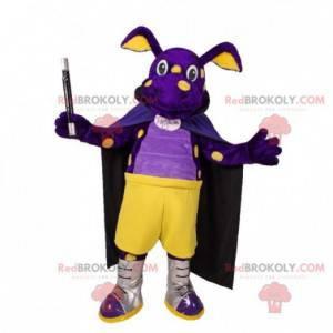 Purple and yellow creature dragon mascot - Redbrokoly.com