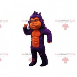 Mascote gorila roxo muito bonito e peludo - Redbrokoly.com