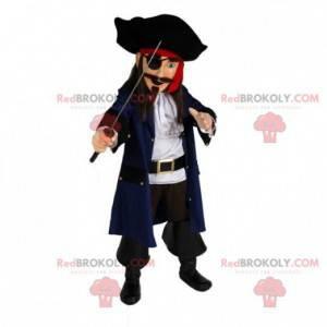 Piratenmaskottchen in traditioneller Kleidung - Redbrokoly.com