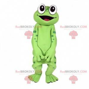 Sehr lustiges grünes Froschmaskottchen - Redbrokoly.com