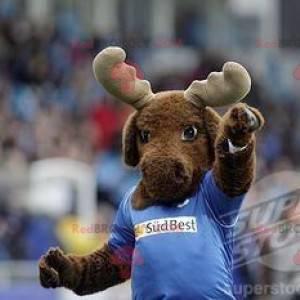 Brown reindeer elk mascot - Redbrokoly.com