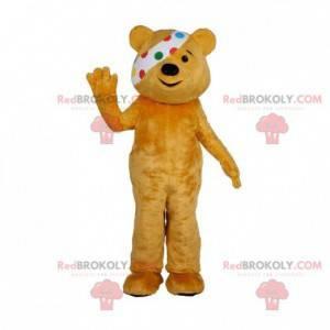 Maskot hnědý medvídek s oční skvrnou - Redbrokoly.com