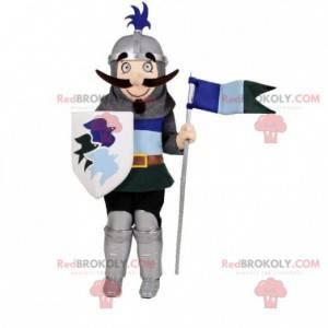 Rytíř maskot s přilbou a štítem - Redbrokoly.com
