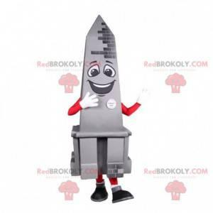 Smiling Gray Obelisk monument mascot - Redbrokoly.com
