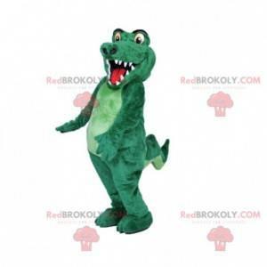 Vollständig anpassbares grünes Krokodilmaskottchen -