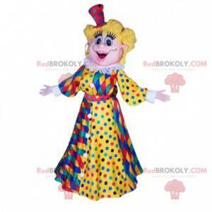 Maskot blond žena s karnevalové šaty - Redbrokoly.com