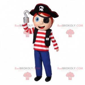 Chlapec maskot v pirátské oblečení. Pirát maskot -