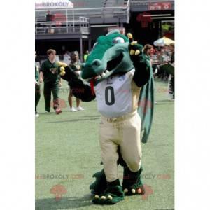 Riesiges grünes Krokodilmaskottchen - Redbrokoly.com