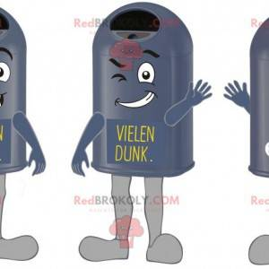 Mascots giant and funny black trash cans - Redbrokoly.com