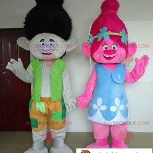 Maskoti Poppy a větev 2 kreslí trollové - Redbrokoly.com