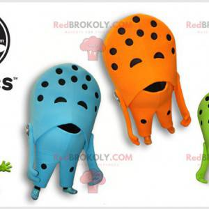 3 Crocs shoe mascots. Colorful shoes - Redbrokoly.com