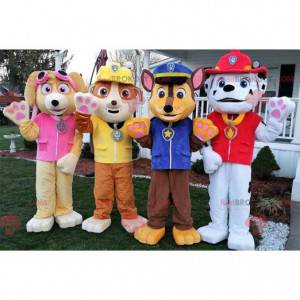4 pies maskotki strażak policjant pracownik... - Redbrokoly.com