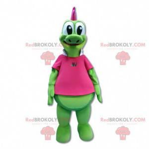Obří dinosaurus zelený krokodýl maskot - Redbrokoly.com