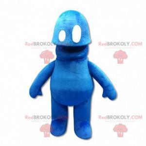 Blue snowman mascot. Blue monster mascot - Redbrokoly.com