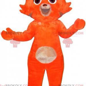 Süßes und süßes Katzenmaskottchen in Orange und Beige -