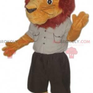 Löwenmaskottchen im Entdecker-Outfit - Redbrokoly.com