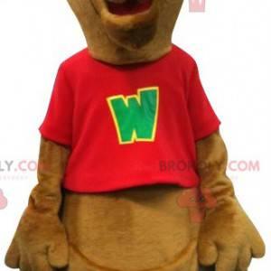 Giant brown kangaroo mascot. Australia mascot - Redbrokoly.com