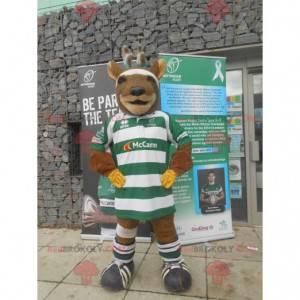 Rugby reindeer elk mascot - Redbrokoly.com
