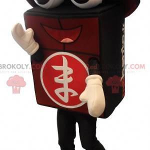 Černá a červená obří bento maskot - Redbrokoly.com