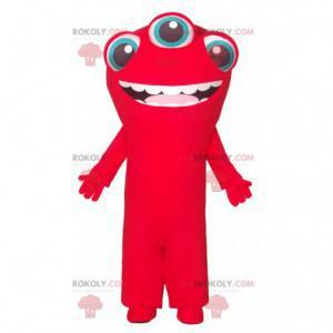 3-eyed red alien mascot - Redbrokoly.com