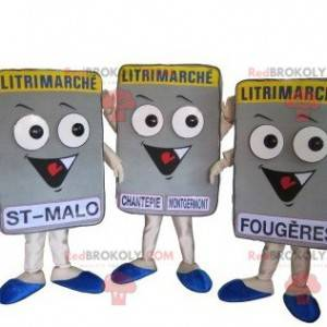 3 Litrimarché Matratzenmaskottchen. 3 Matratzen - Redbrokoly.com