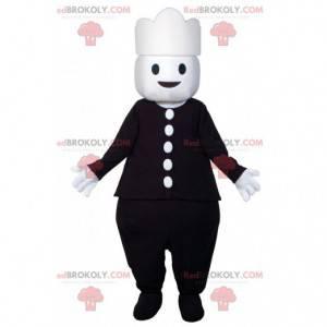 Schneemann Maskottchen in schwarz gekleidet. Playmobil