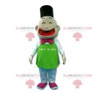 Japanese man mascot. Sushi mascot - Redbrokoly.com