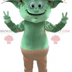 Kæmpe alfegrøn alfemaskot. Fe maskot - Redbrokoly.com