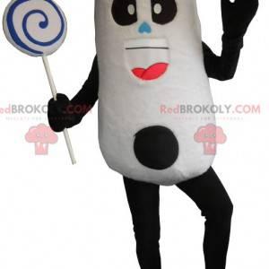 Velmi zábavný maskot černé a bílé pandy - Redbrokoly.com