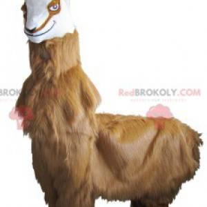 Hairy goat chamois mascot with horns - Redbrokoly.com