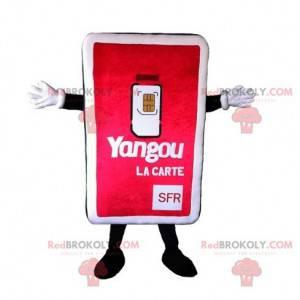 SIM karta telefon maskot. Telefonní maskot - Redbrokoly.com