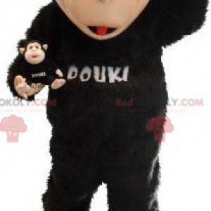 Svart og beige ape maskot. Douki maskot - Redbrokoly.com