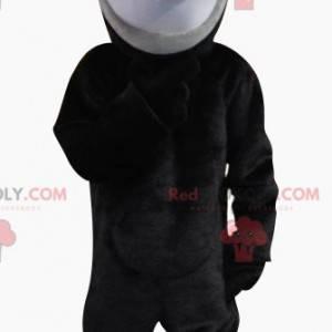 Šedá a černá krysa maskot s velkýma ušima - Redbrokoly.com