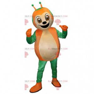 Zelená a oranžová maskot Beruška roztomilý a usměvavý -