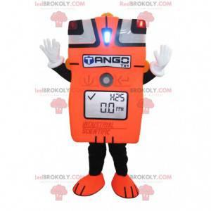 Oranžový a černý obří ampérmetr maskot - Redbrokoly.com
