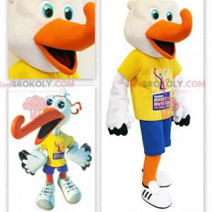 Hockey supporter stork mascot - Redbrokoly.com