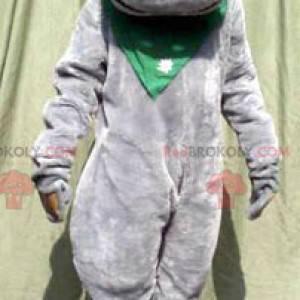 Mascote hipopótamo cinza fofo - Redbrokoly.com