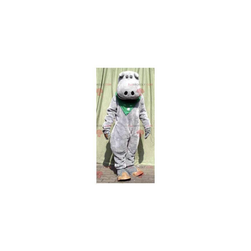 Roztomilý maskot šedý hroch - Redbrokoly.com