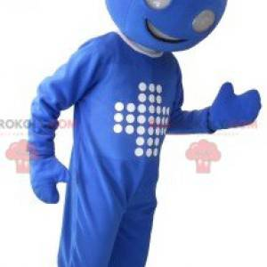 Blaues Butler-Maskottchen - Redbrokoly.com