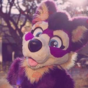 Purple and pink dog mascot - Redbrokoly.com