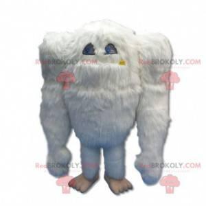 Stor gigantisk og hårete hvit yeti-maskot - Redbrokoly.com