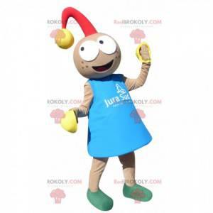 Leprechaun baby mascot with a bell - Redbrokoly.com