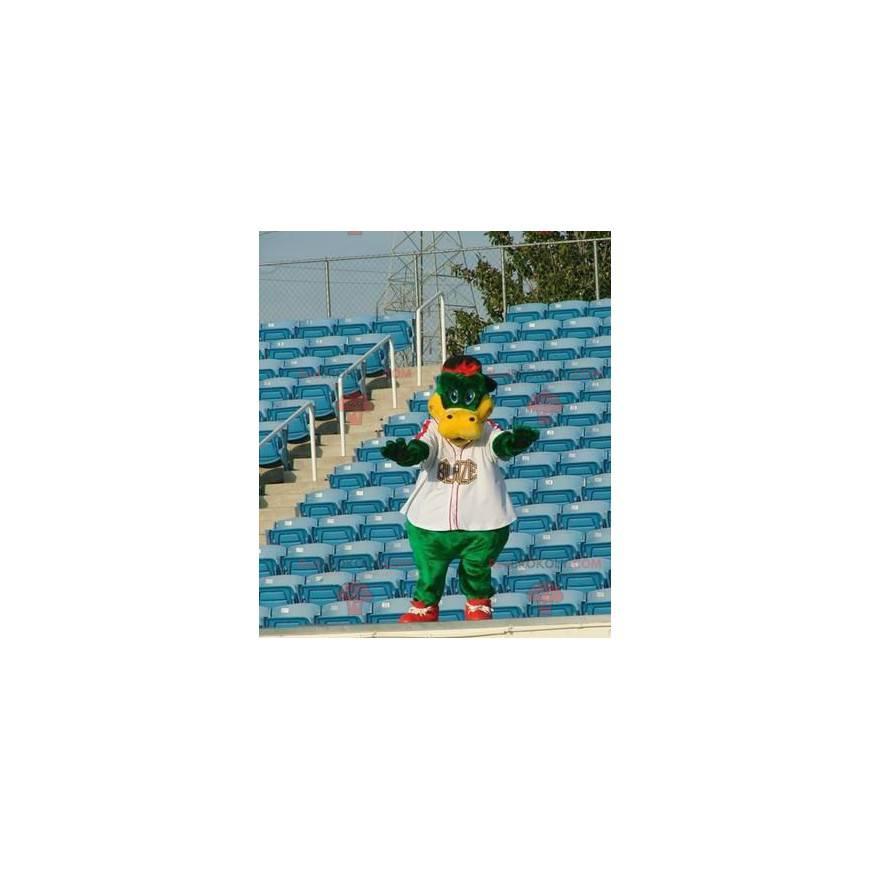 Zelený a žlutý krokodýlí maskot - Redbrokoly.com