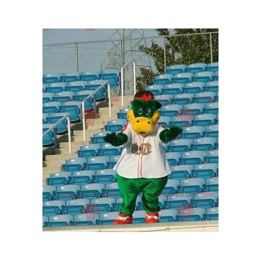 Green and yellow crocodile mascot - Redbrokoly.com